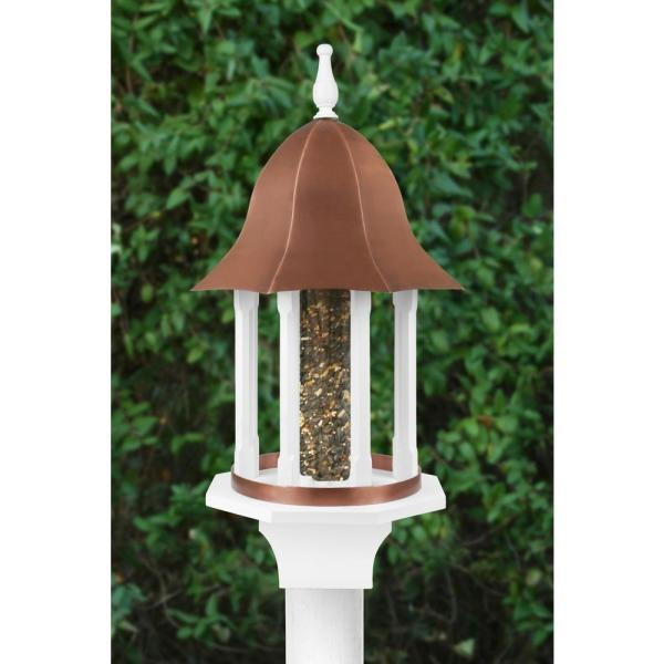 Good Directions Manor Extra Large Bird Feeder With Pure Copper Roof 8 Lbs Seed Capacity Bf104wwht The Home Depot