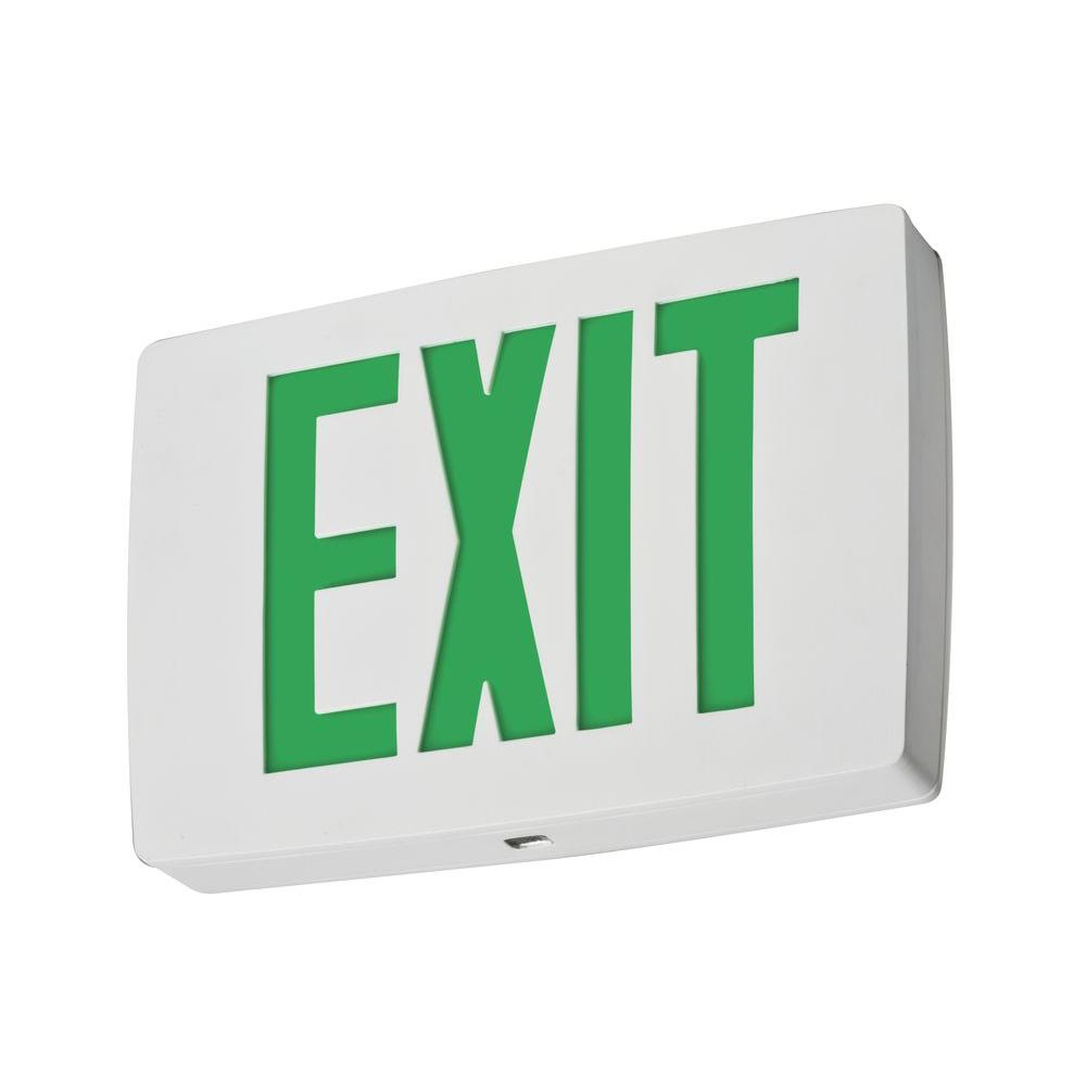 Single Face Red Quantum Die Cast White LED Exit Sign with