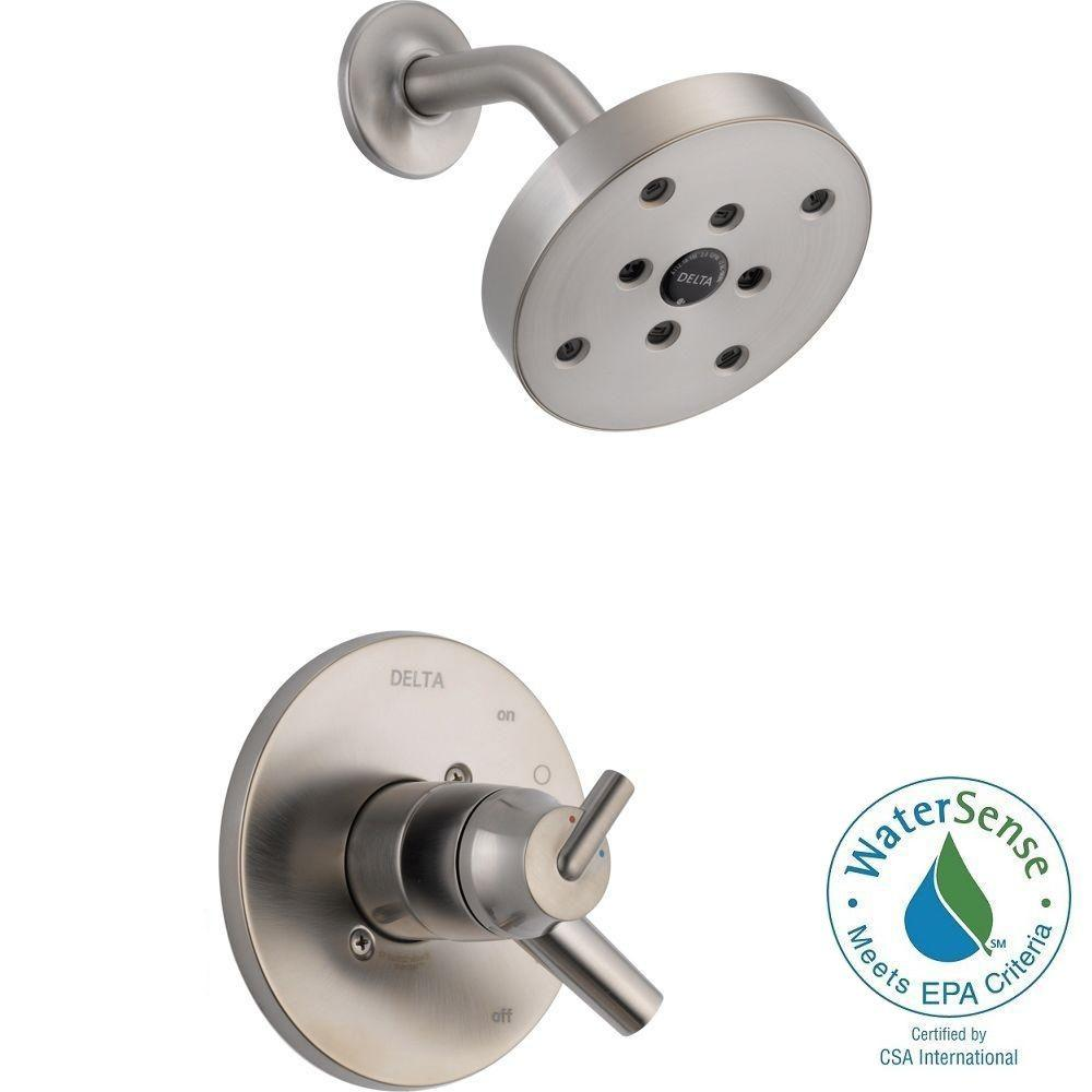 Delta Trinsic 1-Handle Shower Only Faucet Trim Kit in Stainless ...