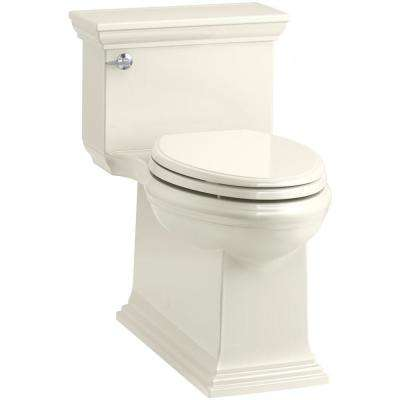 Memoirs Stately 1-piece 1.28 GPF Single Flush Elongated Toilet in Biscuit, Seat Included