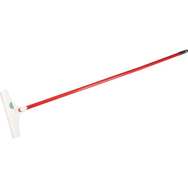 12 in. Carpet Rake and Groomer with 51 in. Handle