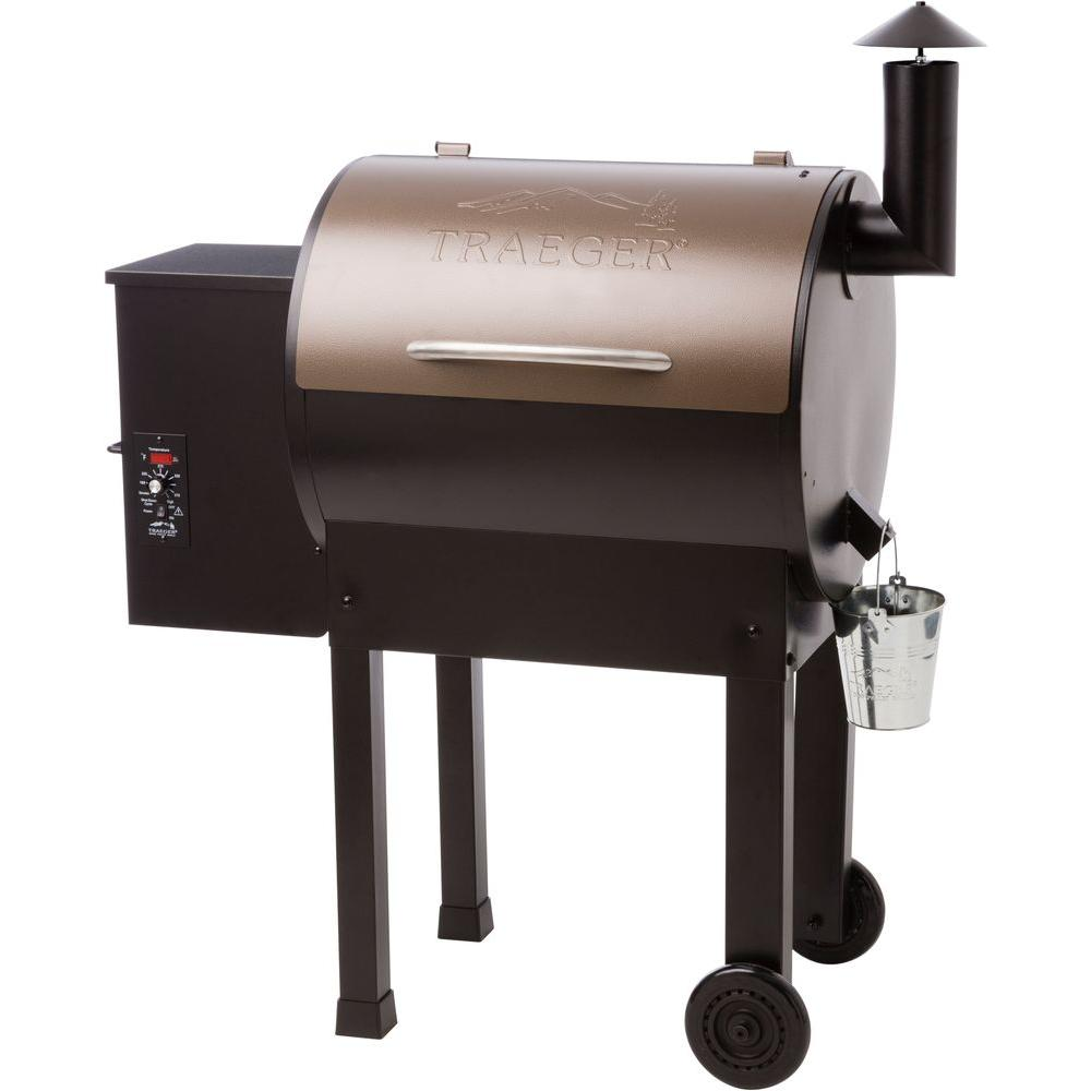 Lil' Tex Elite 22 Wood Fired Pellet Grill in Bronze