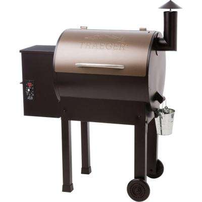 Lil' Tex Elite 22 Wood Fired Pellet Grill and Smoker in Bronze