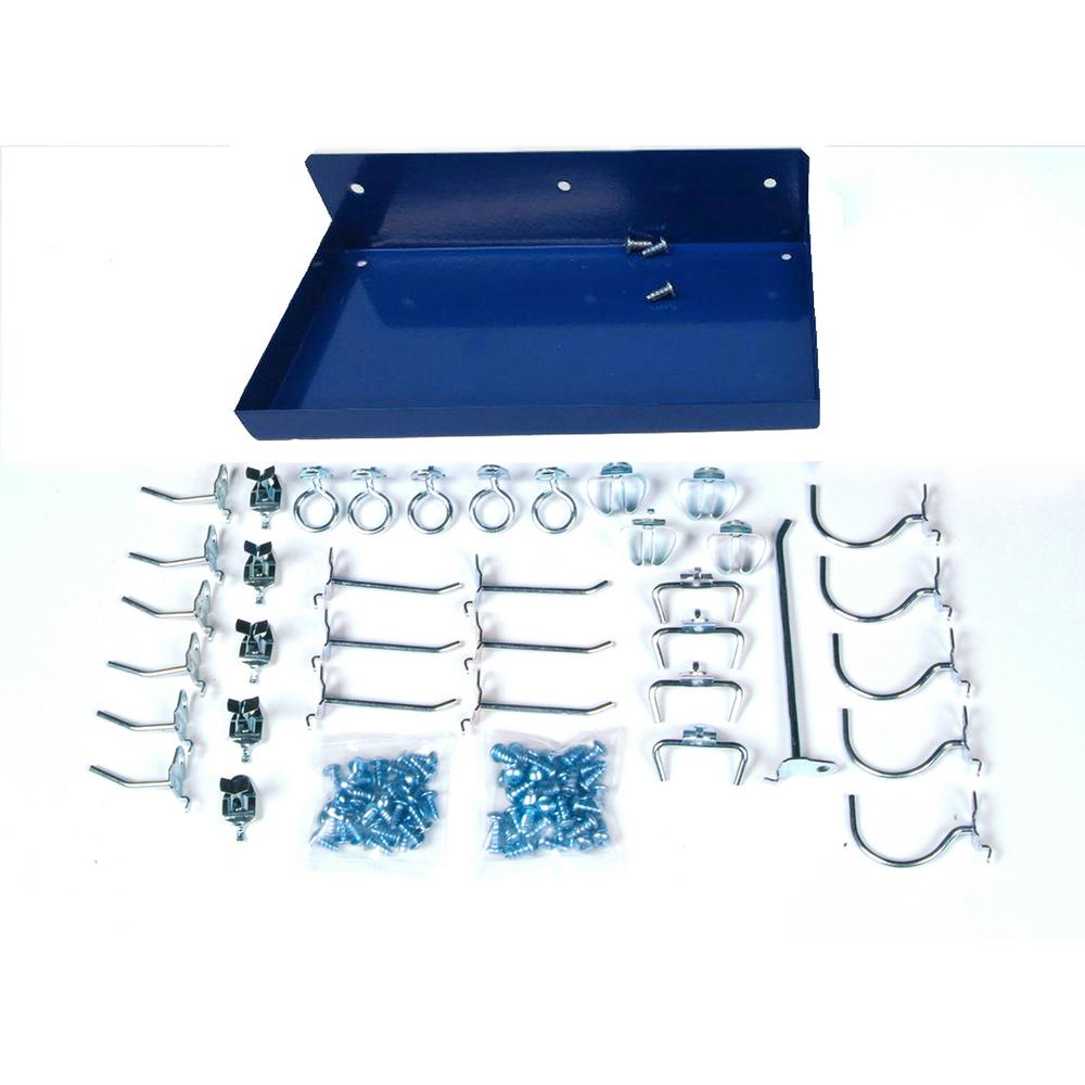 Triton Products DuraHook 36-Pieces Hook Assortment and 12 in. W x 6 in. D DuraBoard Shelf