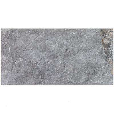 Bantame Blue Gray 12 in. x 24 in. x 10.5mm Semi-Polished Porcelain Floor and Wall Tile (8 pieces / 15.92 sq. ft. / box)