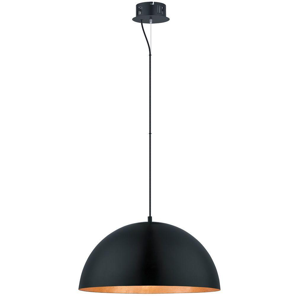 Eglo Gaetano 100 Watt Black Integrated LED Pendant 94228A