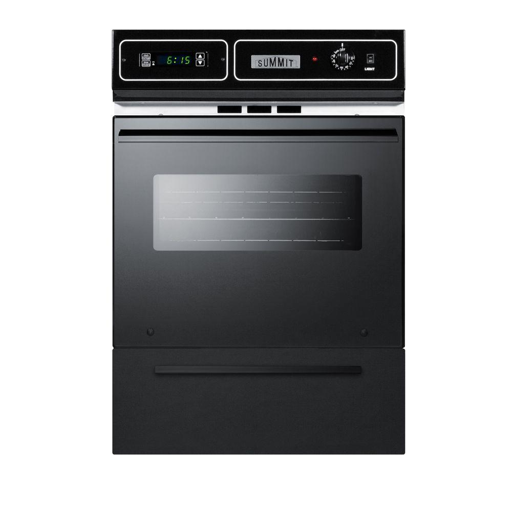 Summit 24 in. Single Electric Wall Oven in Black