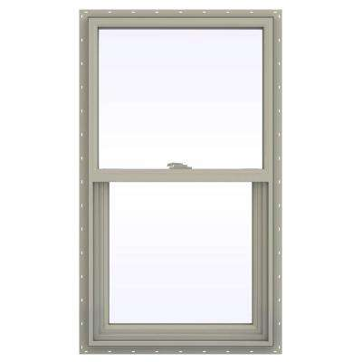 23.5 in. x 41.5 in. V-2500 Series Desert Sand Vinyl Single Hung Window with Fiberglass Mesh Screen