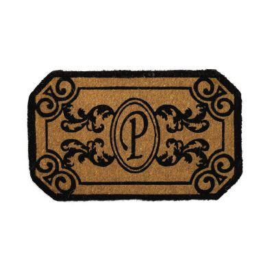 Perfect Home Kingston Rectangle Monogram Mat, 24 in. x 39 in. x 1.5 in. Monogram P-DISCONTINUED