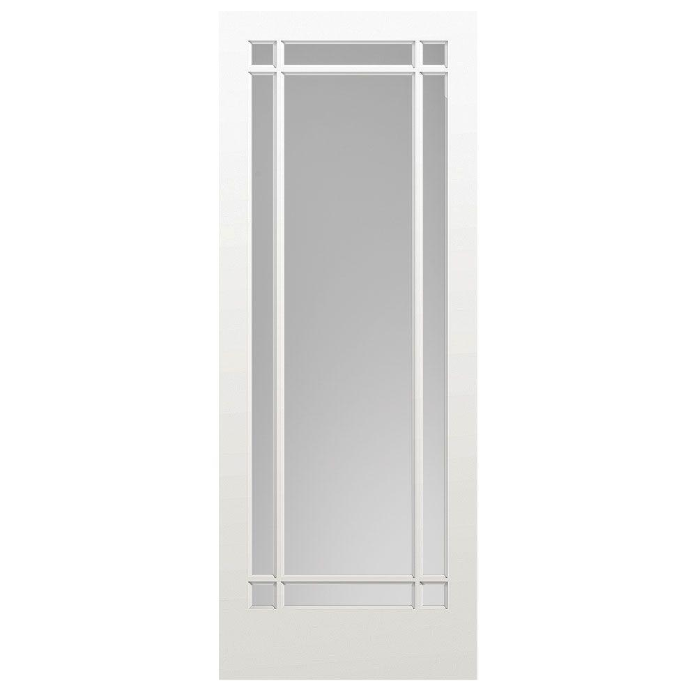 36 in. x 84 in. Prairie Primed 9-Lite Solid Wood Interior