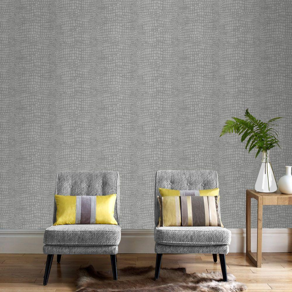 wall paper for living room. Grey Crocodile Wallpaper  Borders The Home Depot