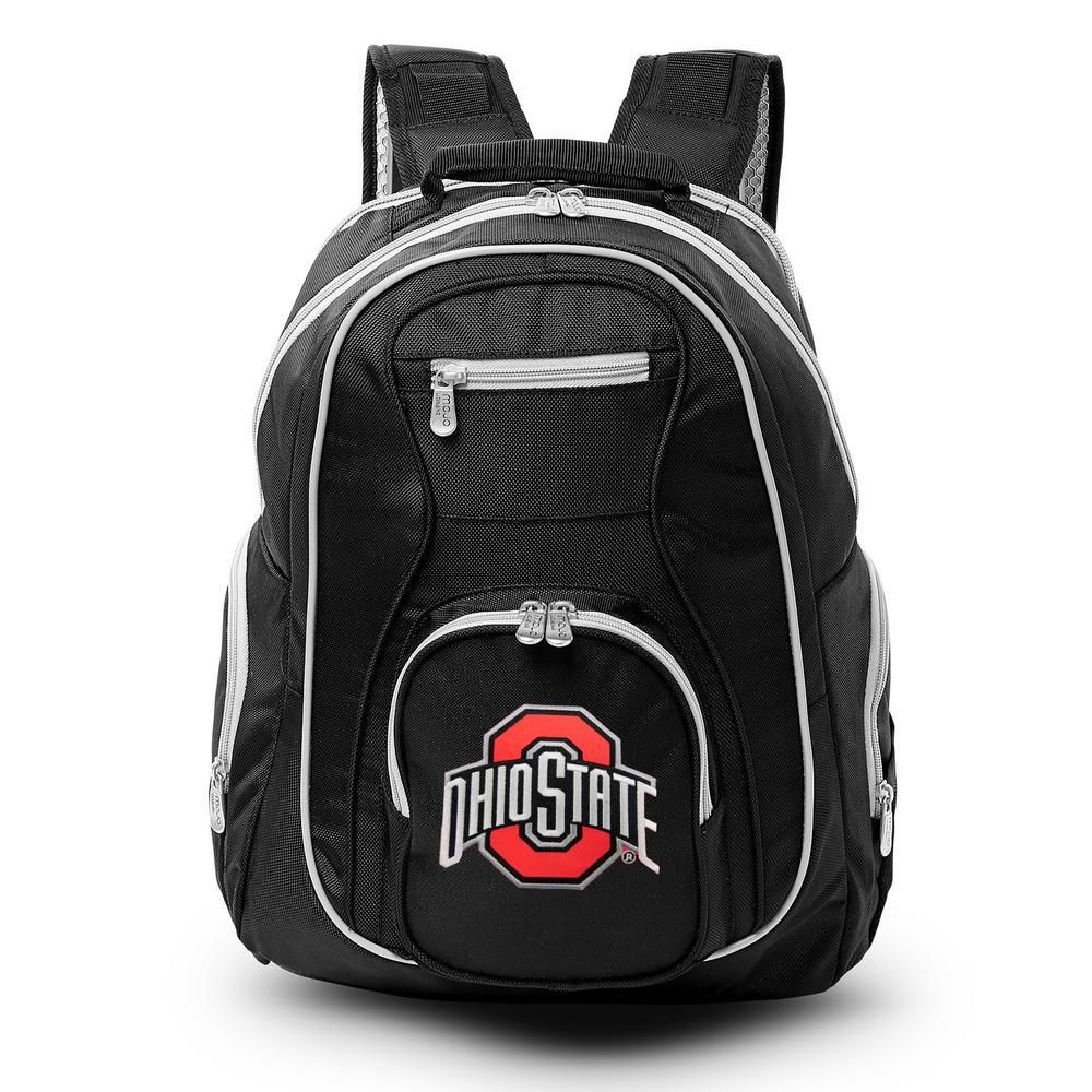NCAA Ohio State University Buckeyes 19 in. Black Trim Color Laptop Backpack