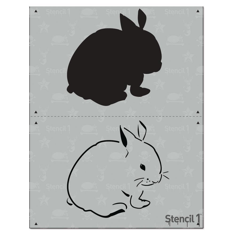 Stencil1 Bunny 2 Layer Stencil S12l07 The Home Depot