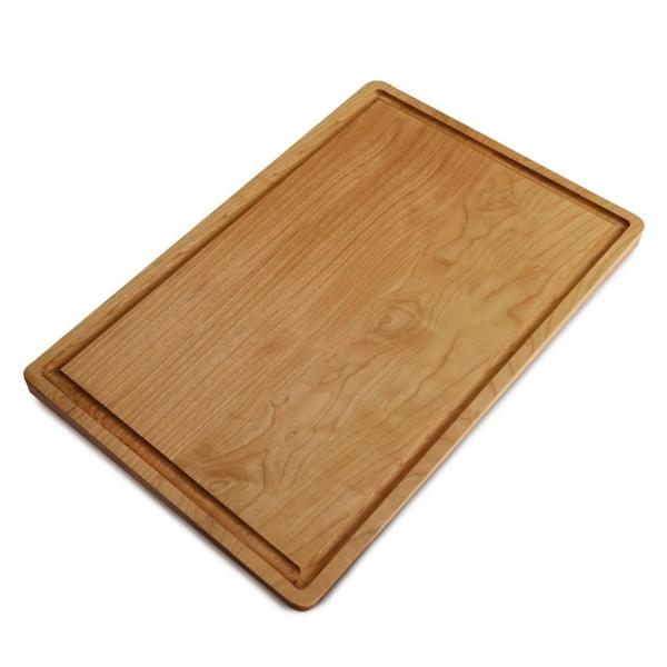 Rachael Ray Cucina Pantryware Wooden Cutting Board With Handle 50796 The Home Depot