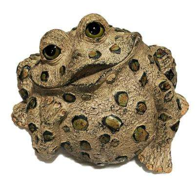 14 in. W Toad Hollow X-Large Toad Dreamer Whimsical Home and Garden Statue