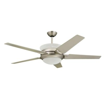 Sunrise 56 in. Satin Steel Up-Light Ceiling Fan