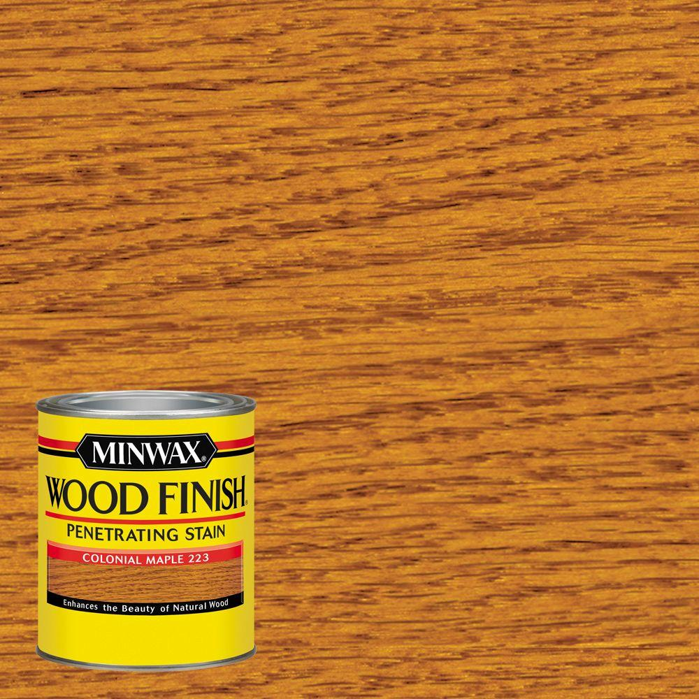 1-qt. Wood Finish Colonial Maple Oil Based Interior Stain (4-Pack)