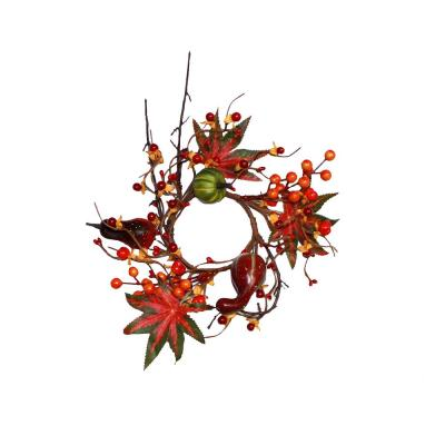 3.25 in. I.D. Gourd with Berries Candle Ring (Set of 2)