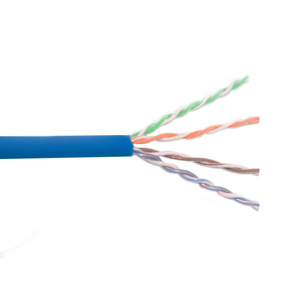 Category 6 1000 ft. Blue 23/4-Gauge Twisted Pair Riser CMR Cable ...