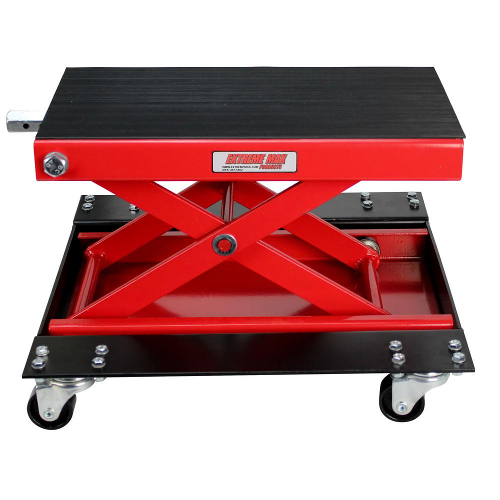 Extreme Max 1100 lbs  W Motorcycle Scissor Jack with Dolly-5001 5059