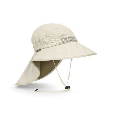 Unisex Large Cream Adventure Hat with Neck Cape