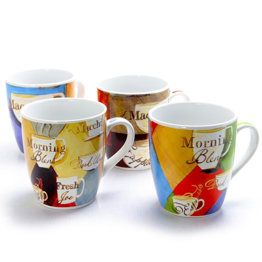 Cuppa Joe 27 oz. 4 Assorted Designs Mug (Set of 4)