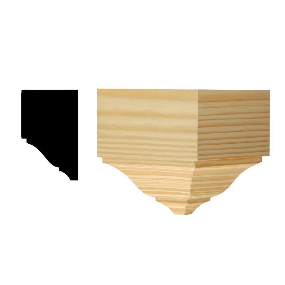DM OCB275 5-23/32 in. x 5-9/16 in. x 5-9/16 in. Solid Pine Miterless Outside Corner Block for Crown Moulding