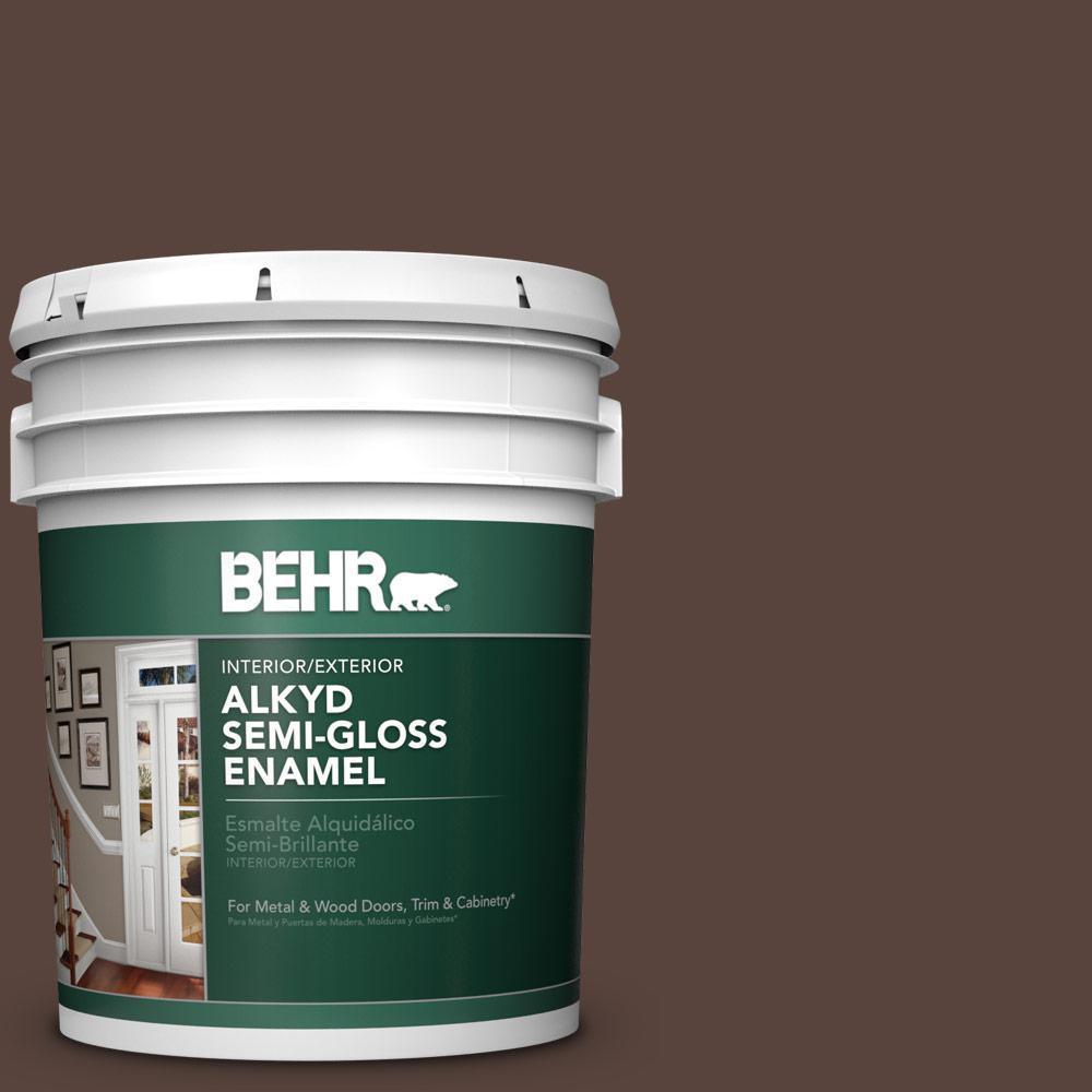 BEHR 5 Gal. #S-G-790 Bear Rug Semi-Gloss Enamel Alkyd
