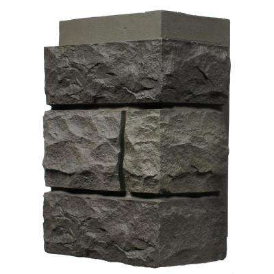 Random Rock Mountain Shadow 11 in. x 7 in. Faux Stone Siding Corner (4-Pack)