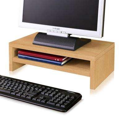 zBoard Eco Natural 2-Shelf Computer Monitor Stand