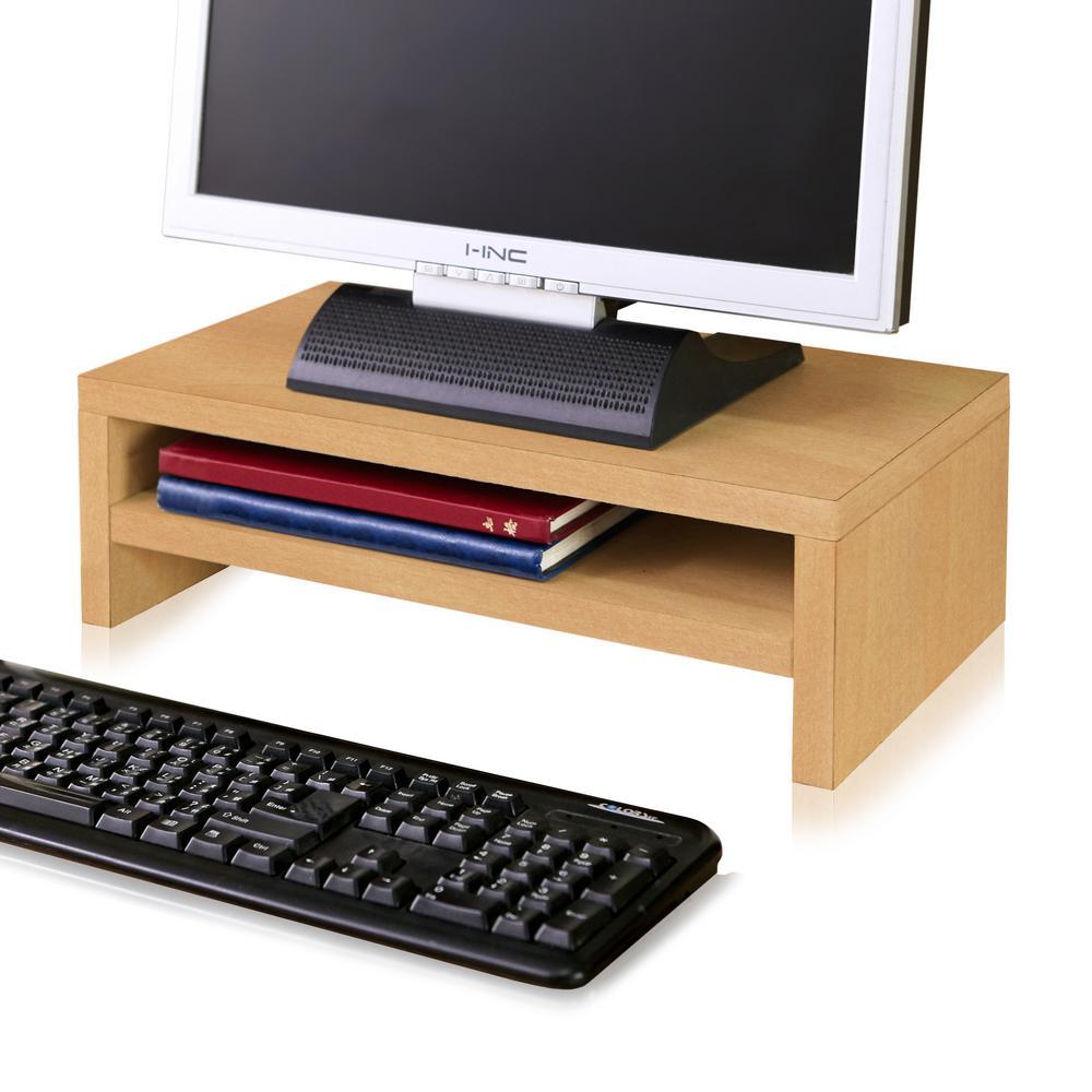 zBoard Eco Natural 2-Shelf Computer Monitor Stand