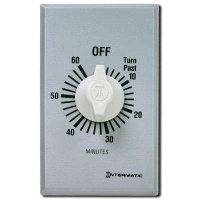 FF Series 10 Amp 60-Minute In-Wall Auto-Off Spring Wound Timer, Gray