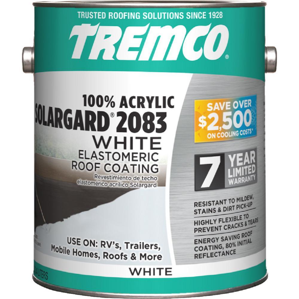 Tremco 0 9 Gal Solargard 2083 Acrylic Elastomeric Roof