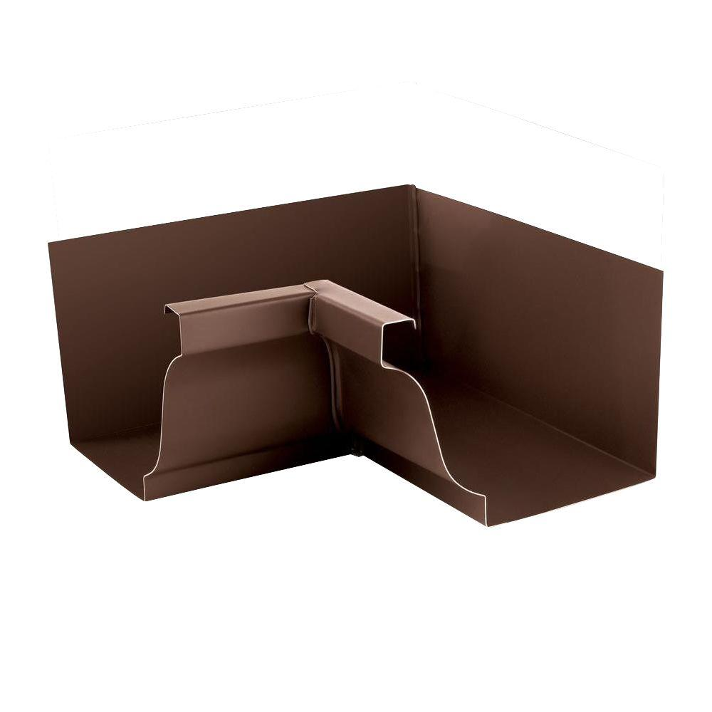 PRO 5 in. Brown Aluminum K-Style Inside Box Miter