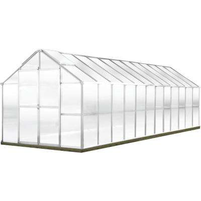 Growers Edition 8 ft. W x 24 ft. D x 7.6 ft. H Aluminum Greenhouse