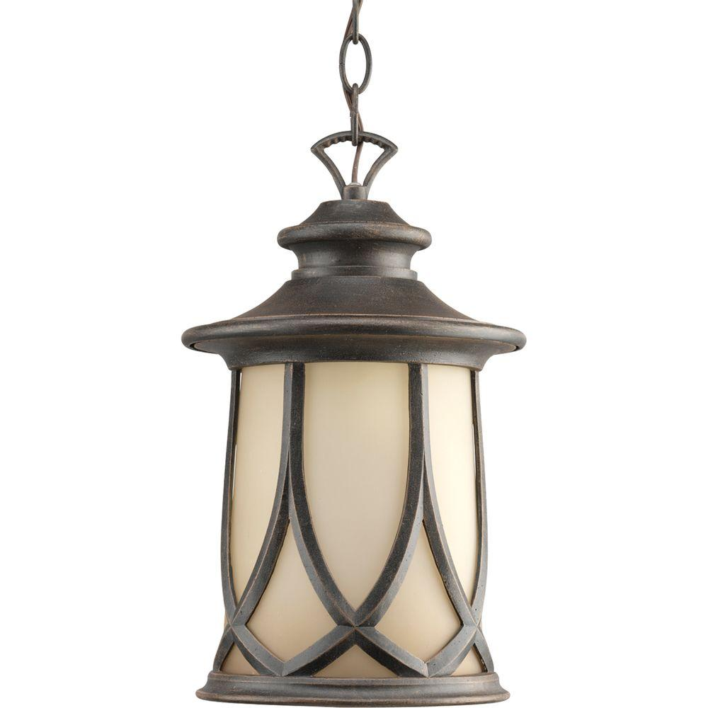 Progress Lighting Resort Collection 1 Light Aged Copper Outdoor Hanging Lantern