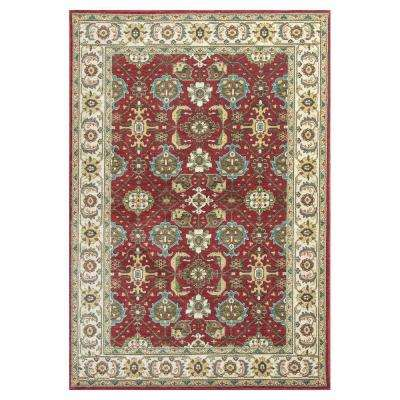 Antiqued Mahal Red/Ivory 3 ft. x 5 ft. Area Rug