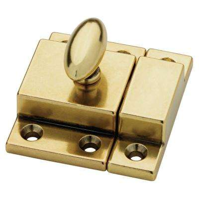 2 in. Bedford Brass Matchbox Door Latch