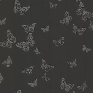 4f76bd8bf Brewster Pearl Black Butterfly Wallpaper Sample 2686-20280SAM - The ...
