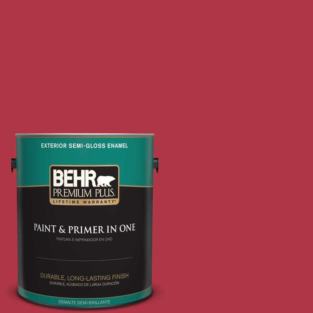1-gal. #140B-7 Frosted Pomegranate Semi-Gloss Enamel Exterior Paint