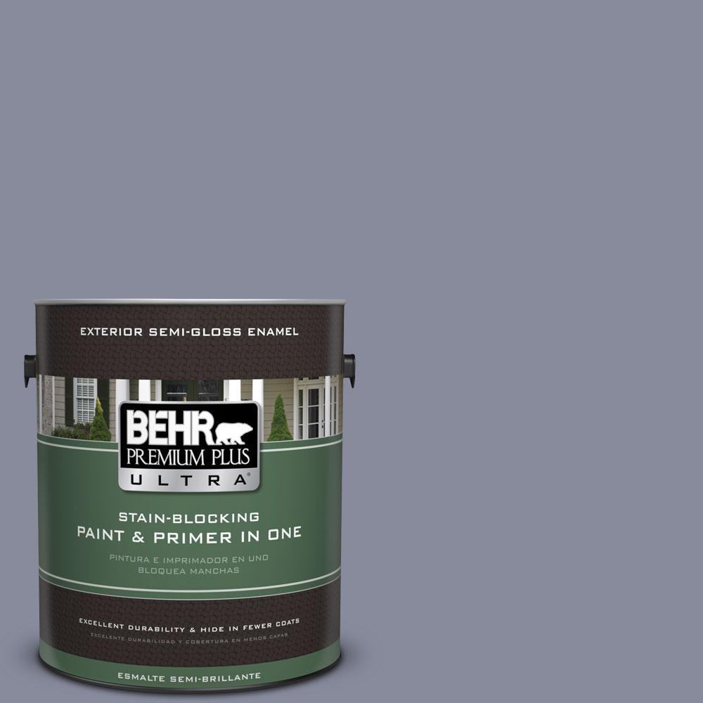 BEHR Premium Plus Ultra 1-gal. #PPU15-8 River Tour Semi-Gloss Enamel Exterior Paint