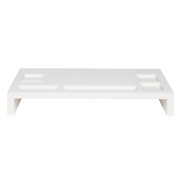 Kate And Laurel Briggs White Mdf Computer Stand 210292 The Home Depot