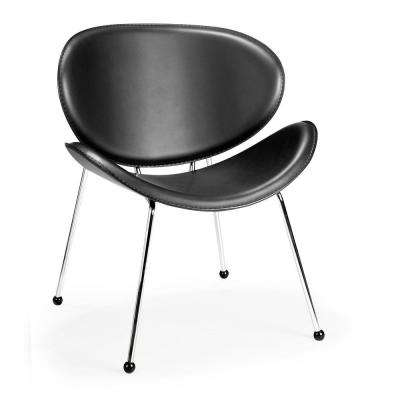 Black Match Leatherette Chair (Set of 2)