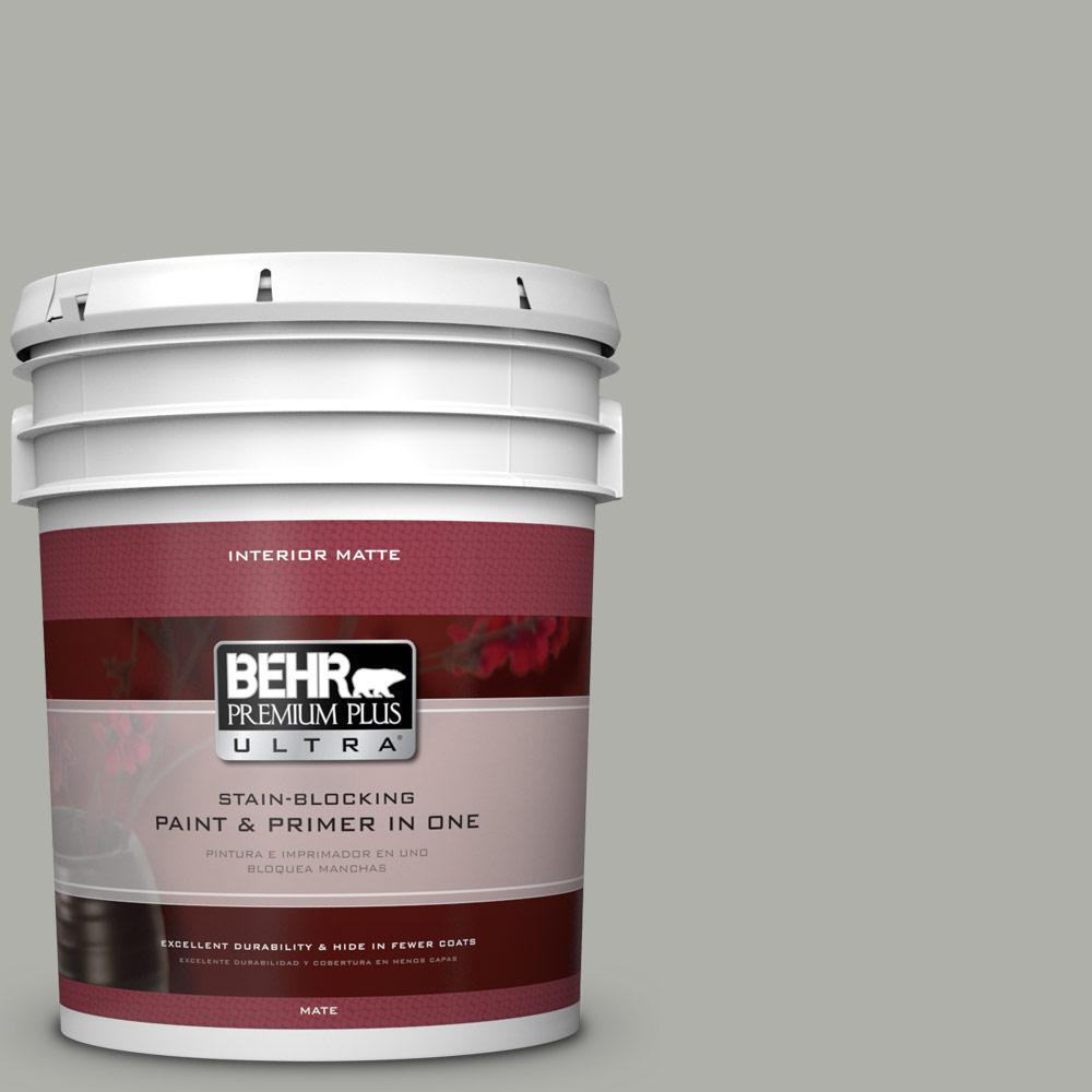 BEHR Premium Plus Ultra 5 gal. #BNC-06 Urban Putty Matte Interior Paint