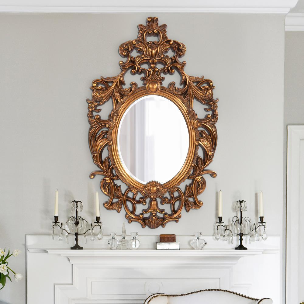 31 in. x 51 in. x 2 in. Gold Framed Mirror