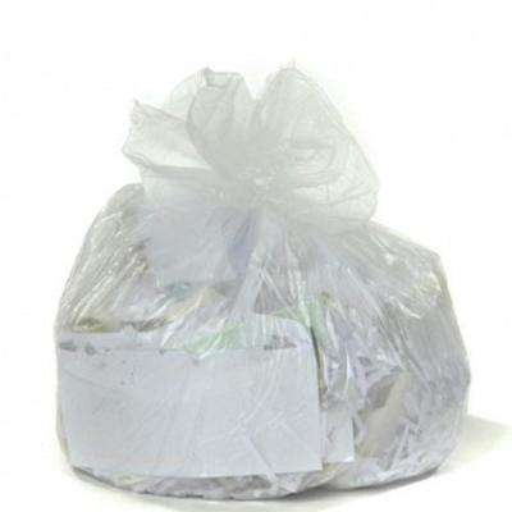 7-10 Gal. Clear High-Density Trash Bags (Case of 1000)