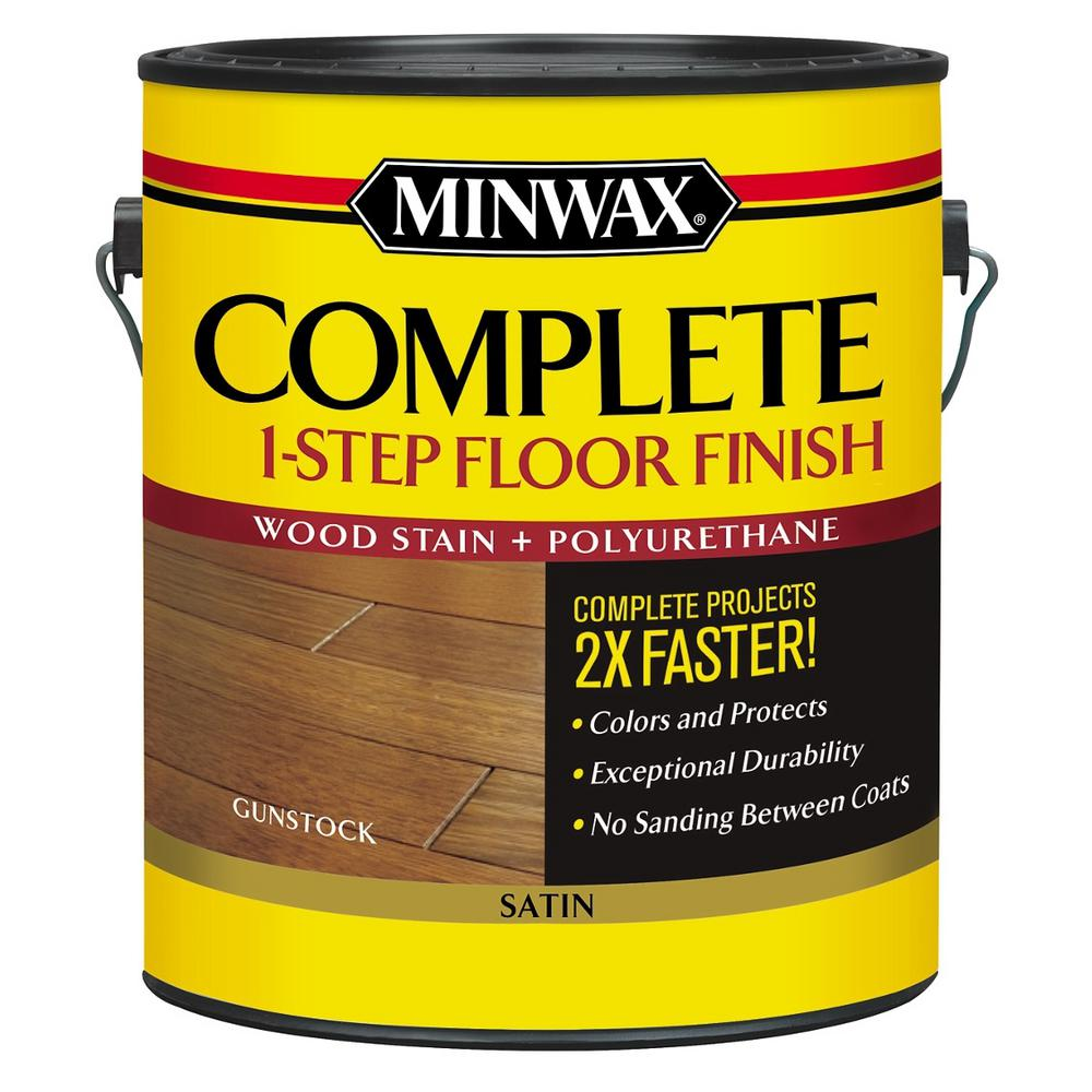 Minwax 1 Gal Complete 1 Step Stain And Polyurethane Floor