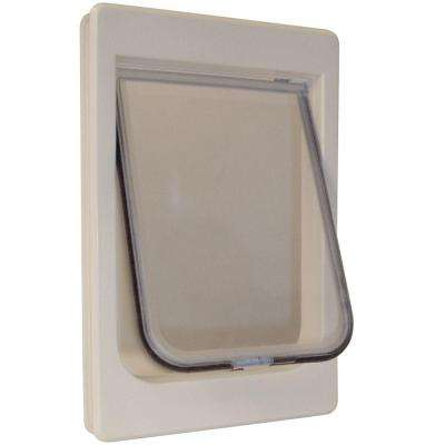 7.5 in. x 10.5 in. Large Chubby Kat Pet Door with Rigid Flap