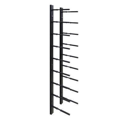 9-Bottle Black Black Metal Modern Peg Wine Rack