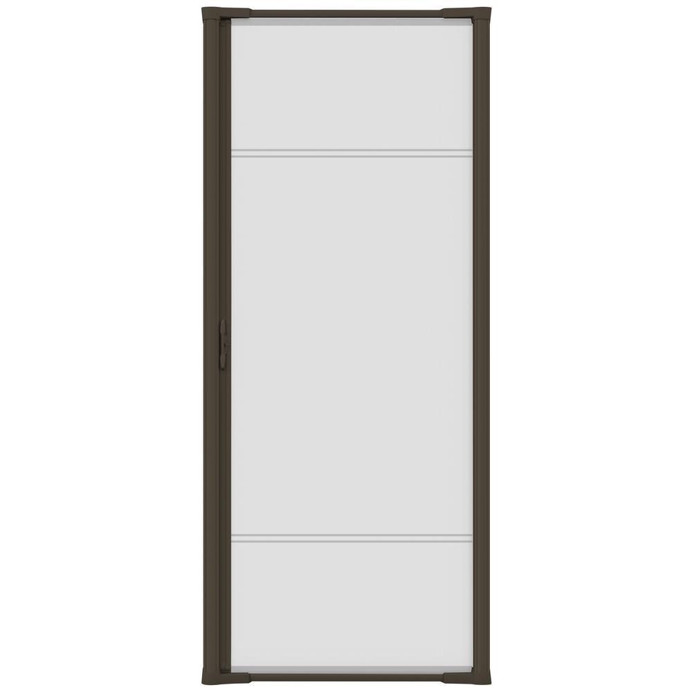 36 in. x 81 in. Brisa Brown Standard Retractable Screen Door